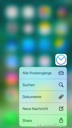 iOS mit 3D Touch App Schnellzugriff