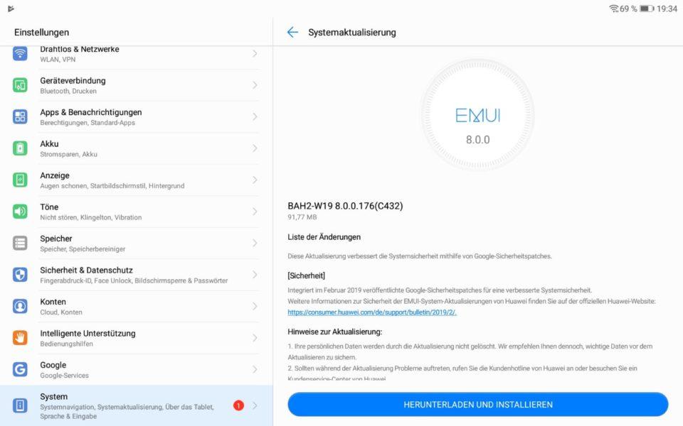 MediaPad M5 Pro und Lite bekommen Februar-Patch 3