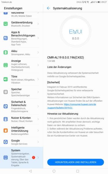 MediaPad M5 Pro und Lite bekommen Februar-Patch 2