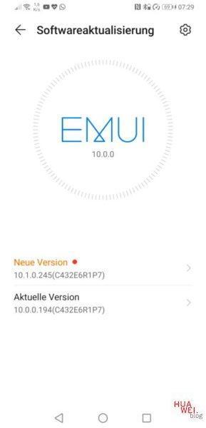 Mate 20 X – EMUI 10.1 Update