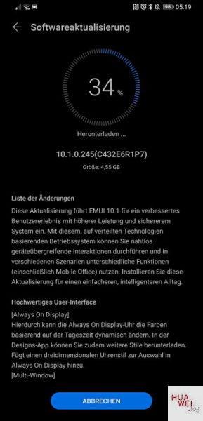 Mate 20 X – EMUI 10.1 Update jetzt auch bei uns verfügbar 1