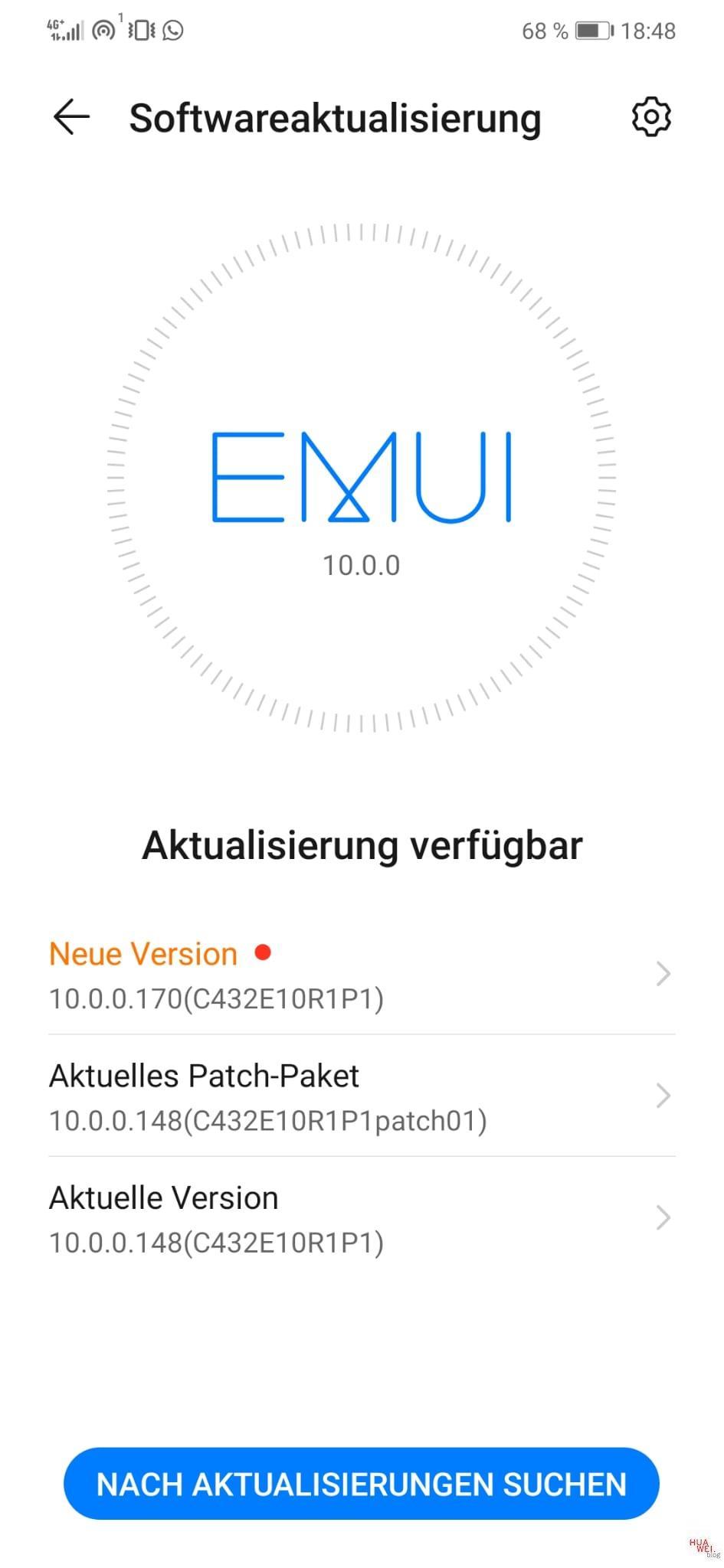 Mate 20 Lite - Dezember-Patch (EMUI 10)