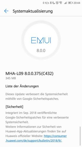 Mate 9 B375 Changelog
