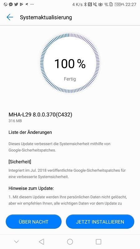 Mate 9 Firmware Update Changelog