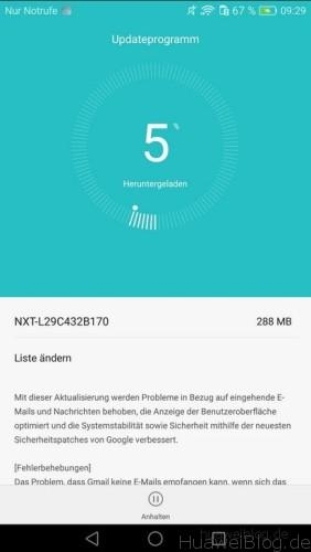 Mate 8 B170 OTA Update Bugfix Changelog