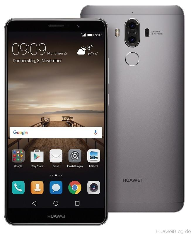 Huawei Mate 9 Grau Front Rückseite B126