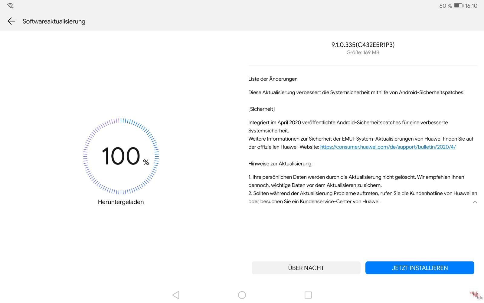 Aprilpatch 2020 MediaPad M5 10.8 WiFi