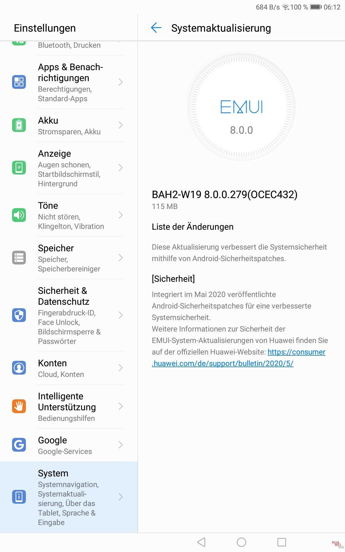 MediaPad M5 Lite Maipatch 2020