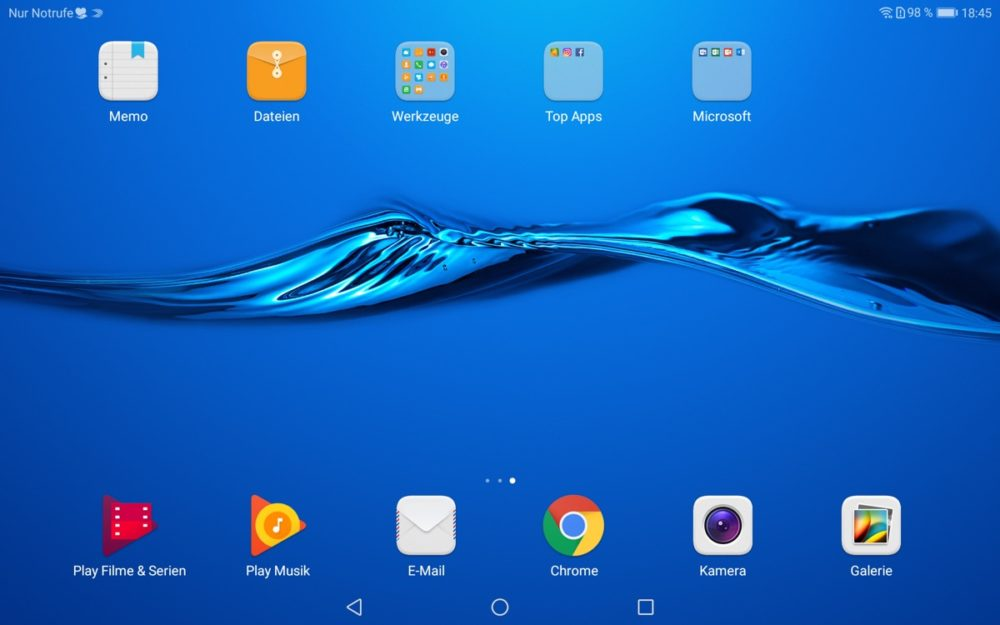 MediaPad M3 Lite 10 Homescreen