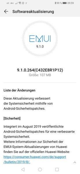P-Smart-2019-August-Sicherheitsupdate, POT-LX1 9.1.0.264