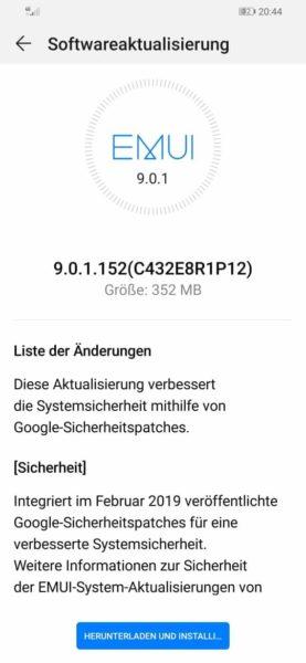 MediaPad M5 10 WiFi und P Smart 2019 - Februar-Patch eingetroffen 3