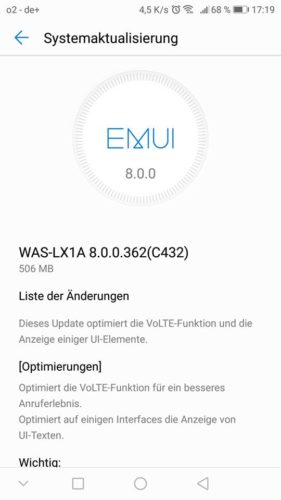 P10 Lite Android 8 Update