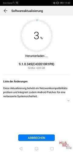 Huawei P20 Firmware Update 9.1.0.345