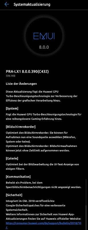Huawei GPU Turbo P8 Lite 2017