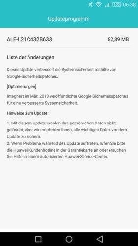 P8 lite Firmware Update B633