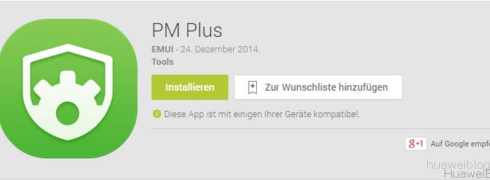 Huawei Berechtigungsmanager App