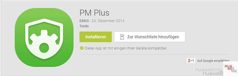 Huawei Berechtigungsmanager App - PM Plus - Download