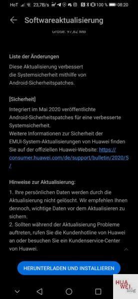 Huawei Mate 20 (Pro) und P Smart Z erhalten Maipatch 3
