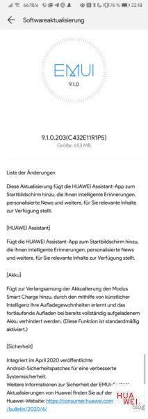 Huawei P Smart 2018 erhält Sicherheitspatch für April und weitere Neuerungen 1