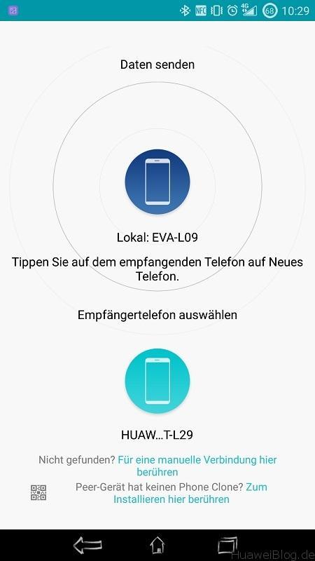 Phone Clone Verbindung Daten senden