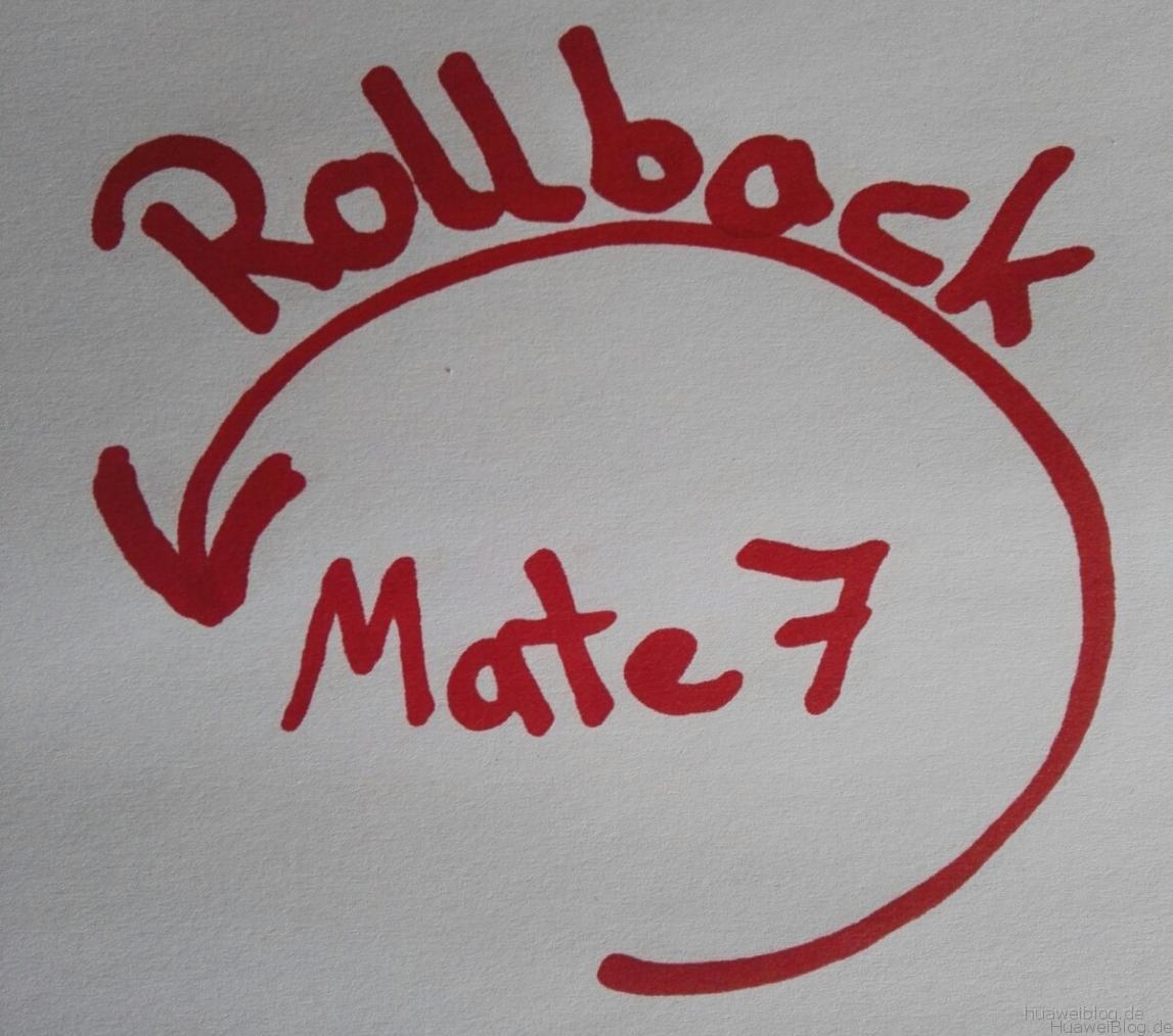 Rollback Mate 7
