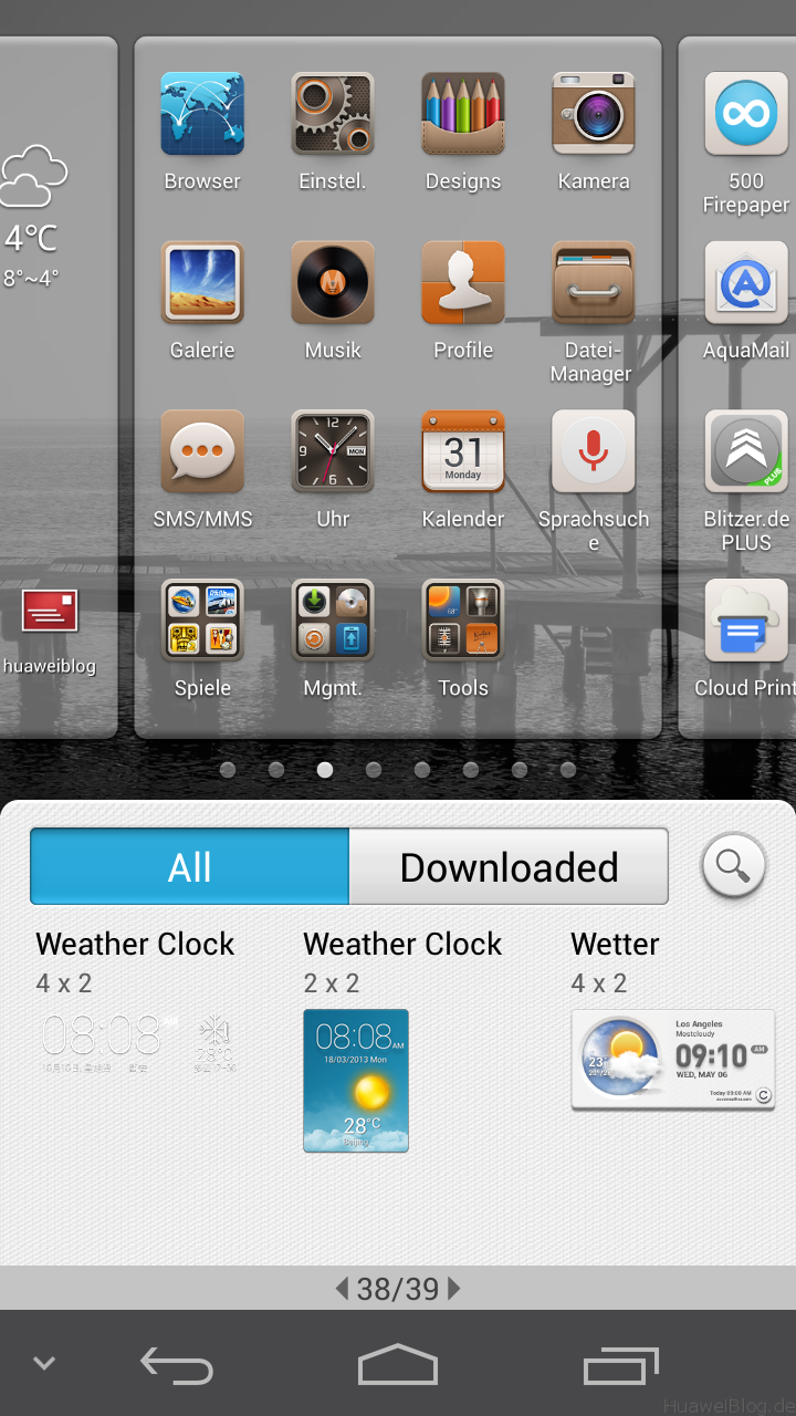 Huawei Emotion UI Widgets