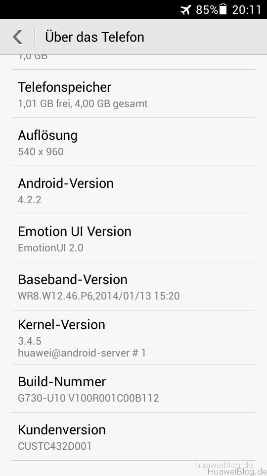 Huawei Ascend G730 – Test / Erfahrungsbericht