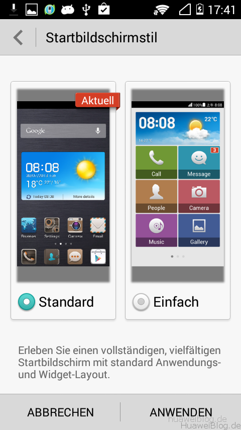 Huawei_Y530_Startbildschirm