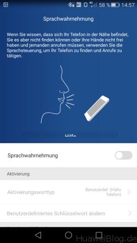 Huawei P8 - Sprachwahrnehmung