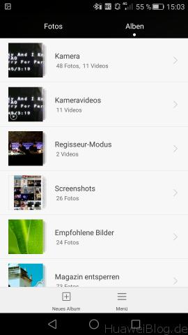 Huawei P8 - Kamera - Fotos - Album