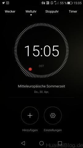 Huawei P8 - Uhr - Wecker - Timer