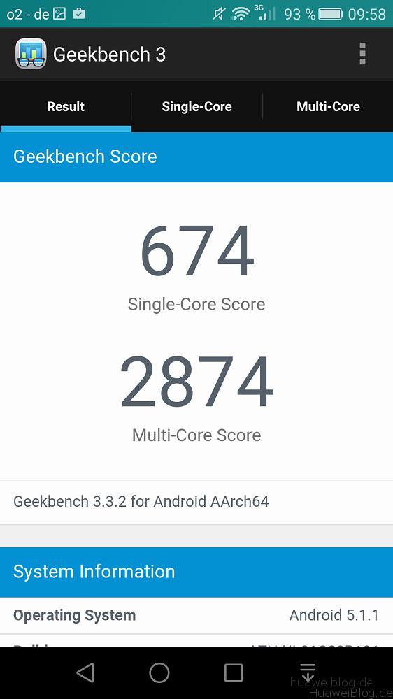 Huawei ShotX Testbericht - Benchmark
