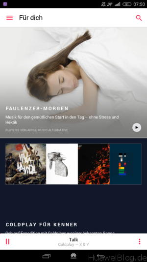 Apple Music auf EMUI Android