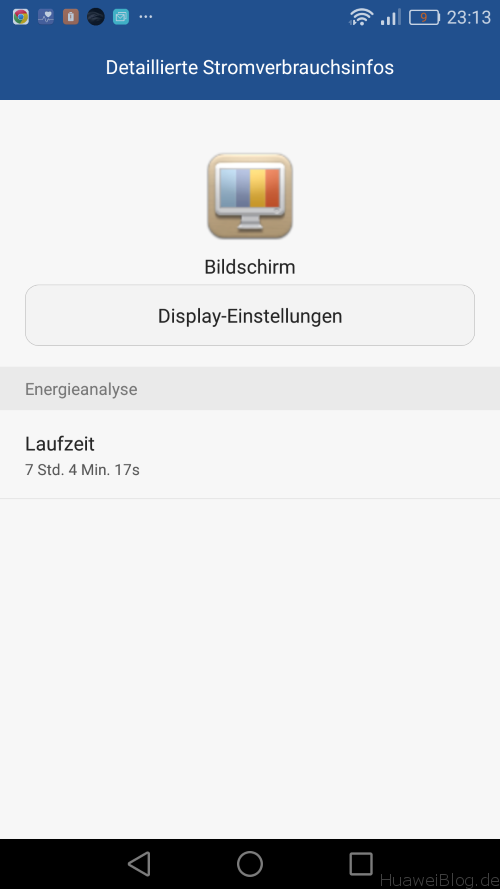 P9 Lite Test - Dsiplay On time