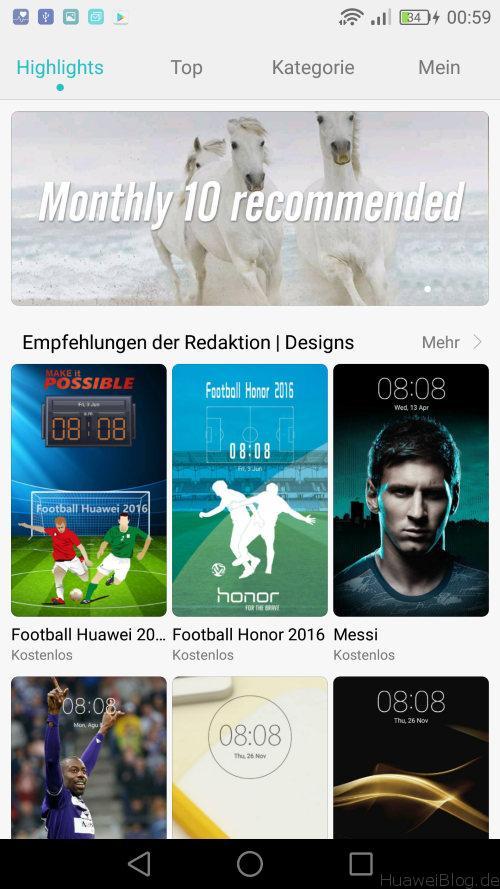 Huawei P9 Lite Test - Design App Menü