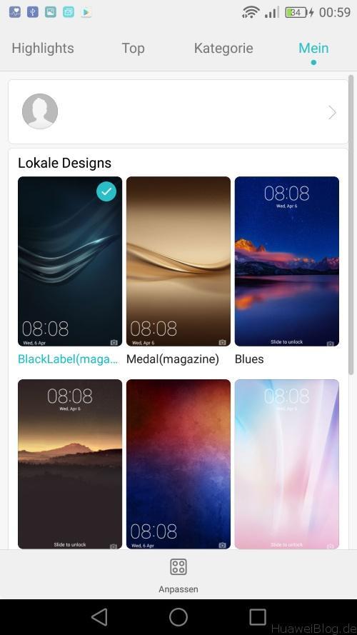 Huawei P9 Lite Test - Design App - Eigene Designs