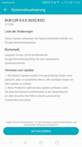 honor 8 Pro B363 Firmware Update