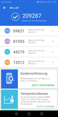 honor View 10 Antutu Benchmark