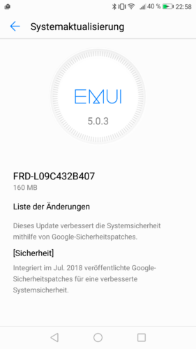 honor 8 B407 Changelog