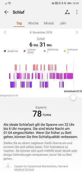 Huawei Health Schlaf