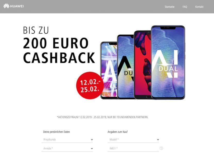 HUAWEI Cashback Aktion der Telekom - bis zu 200 EUR sparen 2