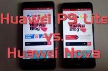 Huawei P9 Lite vs Huawei Nova