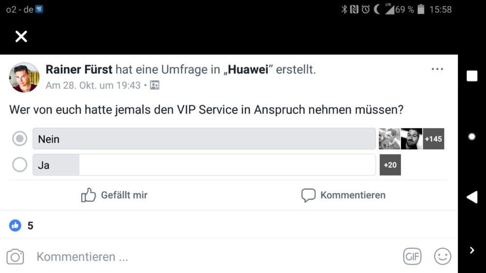 Huawei VIP Service Beanspruchung Statistik