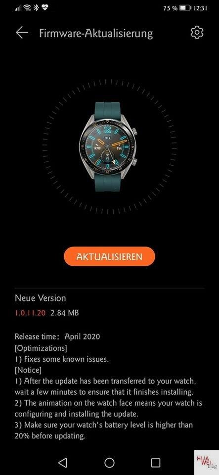 Watch GT-Firmware April 2020