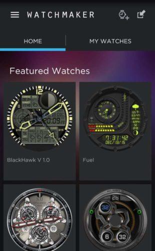 Watchmaker Auswahl Watchfaces