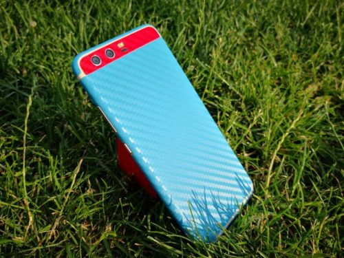 XtremeSkins P10 Carbon Blue Red Accent
