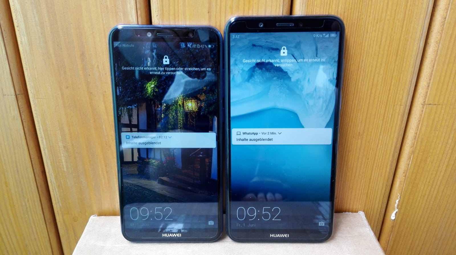 Huawei Y7 & Huawei Y6 Vorderseite