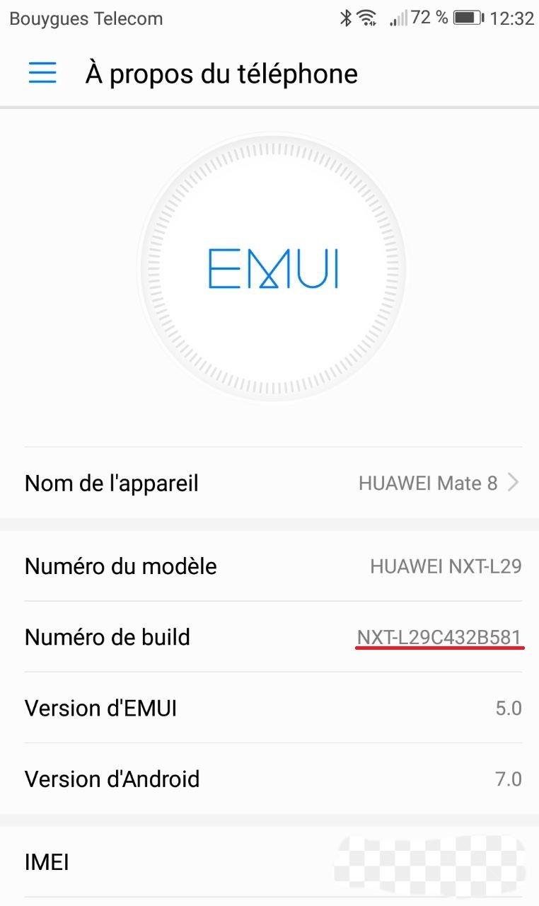 Huawei Mate 8 Firmware B581