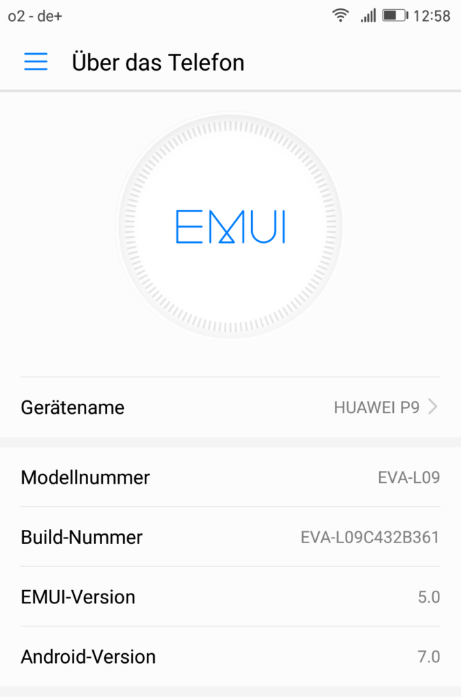 Huawei P9 - Update - EVA-L09C432B361 - Download - Anleitung