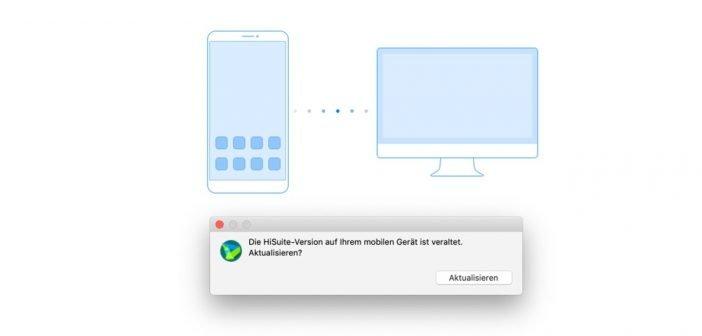 HiSuite MacOS - Update - App - 9.0.1 - Neue Funktionen Backup - Sichern - Wiederherstellen